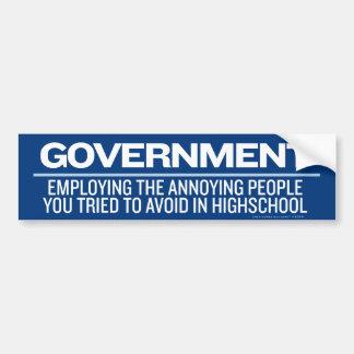 Pegatina para el parachoques del gobierno pegatina para auto