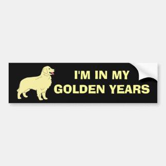 Pegatina para el parachoques del golden retriever pegatina para auto
