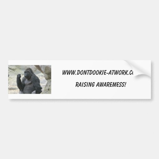 Pegatina para el parachoques del gorila etiqueta de parachoque