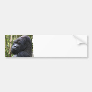 Pegatina para el parachoques del gorila de la tier pegatina de parachoque