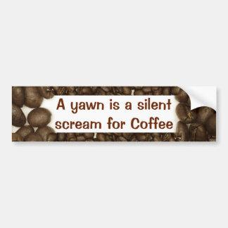 Pegatina para el parachoques del grano de café pegatina para auto