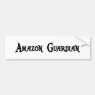 Pegatina para el parachoques del guarda del Amazon Pegatina De Parachoque