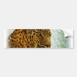 Pegatina para el parachoques del guepardo pegatina de parachoque