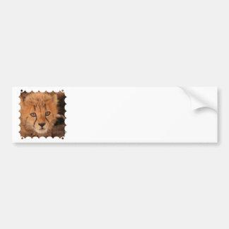 Pegatina para el parachoques del guepardo del bebé pegatina de parachoque