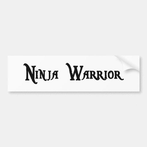 Pegatina para el parachoques del guerrero de Ninja Pegatina Para Auto