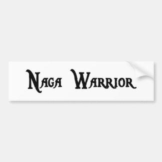 Pegatina para el parachoques del guerrero del Naga Etiqueta De Parachoque