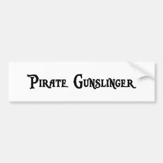 Pegatina para el parachoques del Gunslinger del Pegatina Para Auto