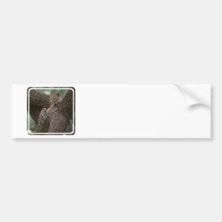 Pegatina para el parachoques del hábitat del leopa pegatina de parachoque