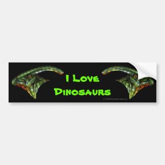 Pegatina para el parachoques del Hadrosaur Etiqueta De Parachoque