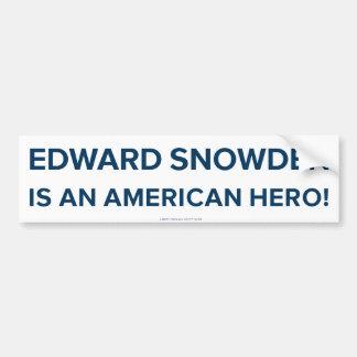 Pegatina para el parachoques del héroe de Edward S Pegatina Para Auto