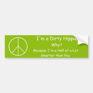 Pegatina para el parachoques del Hippie Etiqueta De Parachoque