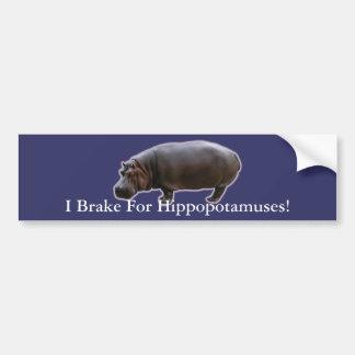 Pegatina para el parachoques del Hippopotamus Pegatina Para Auto