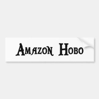Pegatina para el parachoques del hobo del Amazonas Etiqueta De Parachoque