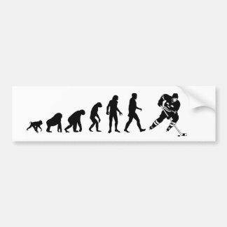 Pegatina para el parachoques del hockey de la evol pegatina de parachoque