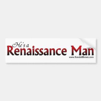 Pegatina para el parachoques del hombre renacentis pegatina para auto