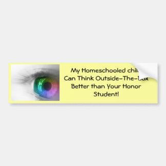 pegatina para el parachoques del homeschool etiqueta de parachoque