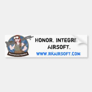 Pegatina para el parachoques del honor pegatina para auto