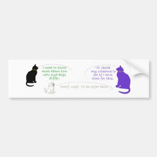 Pegatina para el parachoques del horario del gato etiqueta de parachoque