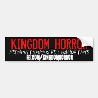 Pegatina para el parachoques del horror del reino pegatina para auto