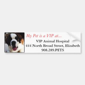 Pegatina para el parachoques del hospital veterina pegatina para auto