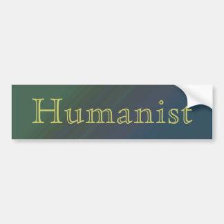 Pegatina para el parachoques del humanista etiqueta de parachoque
