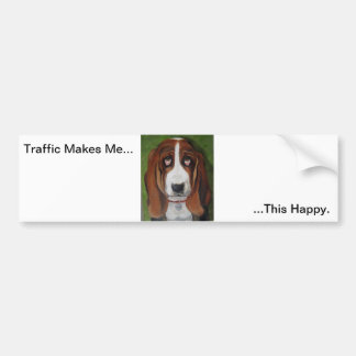 Pegatina para el parachoques del humor del perro pegatina para auto