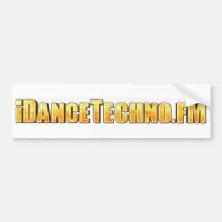 pegatina para el parachoques del iDanceTechno Pegatina Para Auto