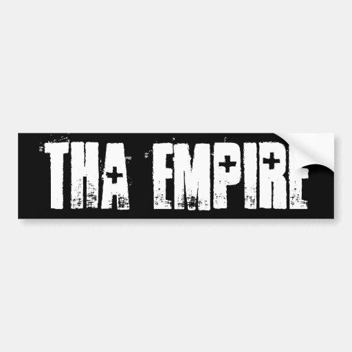 Pegatina para el parachoques del imperio de Tha Pegatina Para Auto