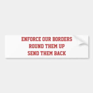 Pegatina para el parachoques del inmigrante ilegal pegatina para auto