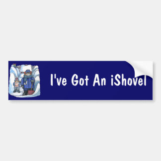 pegatina para el parachoques del iShovel Etiqueta De Parachoque