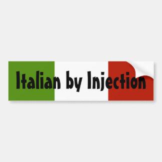 Pegatina para el parachoques del italiano por inye pegatina de parachoque