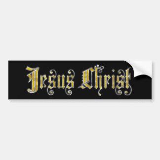 Pegatina para el parachoques del Jesucristo Pegatina Para Auto