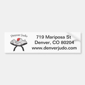 Pegatina para el parachoques del judo de Denver Pegatina Para Auto