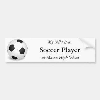 Pegatina para el parachoques del jugador de fútbol etiqueta de parachoque