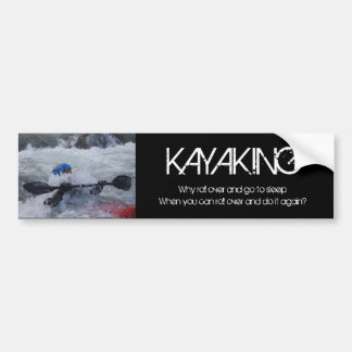 Pegatina para el parachoques del kajak pegatina de parachoque