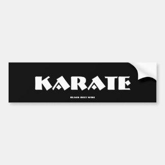 Pegatina para el parachoques del karate pegatina para auto