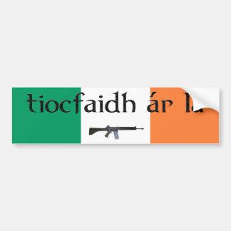 Pegatina para el parachoques del la de Tiocfaidh A Pegatina Para Auto