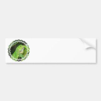 Pegatina para el parachoques del lagarto verde pegatina para auto