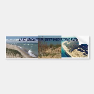 Pegatina para el parachoques del lago Michigan Etiqueta De Parachoque