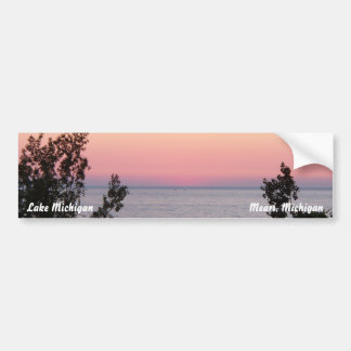 Pegatina para el parachoques del lago Michigan Pegatina Para Auto