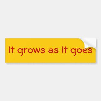 Pegatina para el parachoques del lema del estado d etiqueta de parachoque