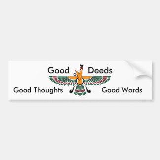 Pegatina para el parachoques del lema del Zoroastr Pegatina Para Auto