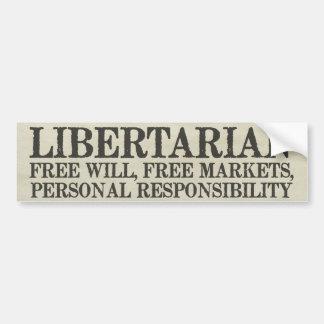 Pegatina para el parachoques del Libertarianism Pegatina Para Auto