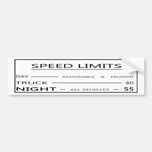 Pegatina para el parachoques del límite de velocid etiqueta de parachoque
