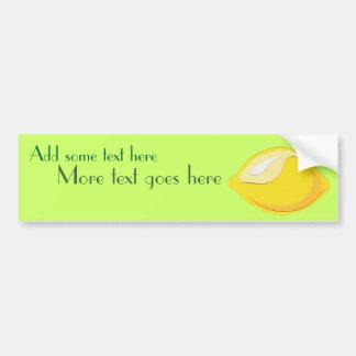 Pegatina para el parachoques del limón pegatina para auto
