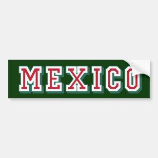 Pegatina para el parachoques del logotipo de Méxic Pegatina De Parachoque