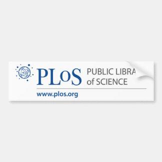 Pegatina para el parachoques del logotipo de PLoS Etiqueta De Parachoque