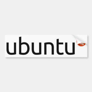 Pegatina para el parachoques del logotipo de Ubunt Etiqueta De Parachoque