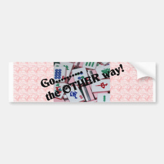 Pegatina para el parachoques del Mah Jongg Etiqueta De Parachoque