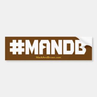Pegatina para el parachoques del #MandB Pegatina De Parachoque